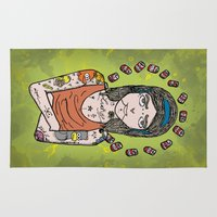 simpson Area & Throw Rugs featuring Saint Simpson by A+A Noisome Art