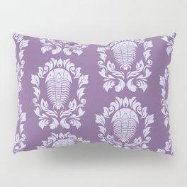 Trilobite's Damask -- Purple Pillow Sham