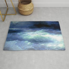 Ivan Aivazovsky - Among the waves Rug