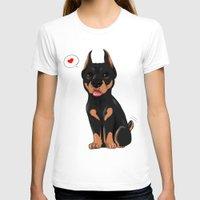 doberman T-shirts featuring Chibi doberman by Furiarossa