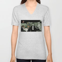 Rudy and Esther ascend to the mother ship Unisex V-Neck