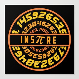 Inspire Pi   Math Science Numbers Canvas Print