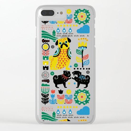 Scandinavian Pugs Clear iPhone Case
