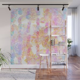 Abstract Pastel Pineapple Wall Mural
