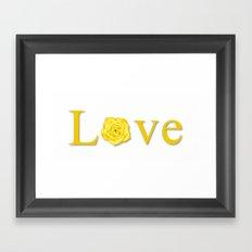 Yellow Love Flower Framed Art Print