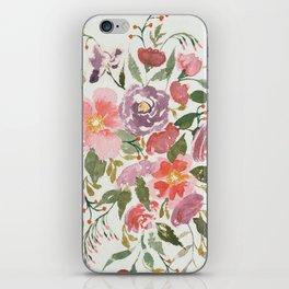 Loose Purple Bouquet iPhone Skin