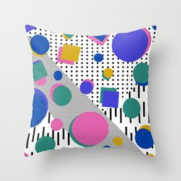 Born in the 80's Throw Pillow