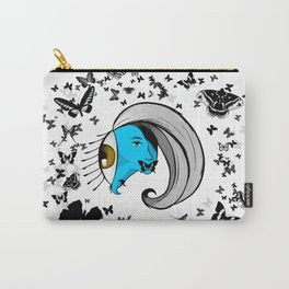 Grey Wave Carry-All Pouch