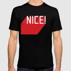 NICE Black LARGE Mens Fitted Tee