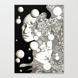 Troubled and peaceful sleep Canvas Print