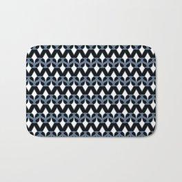 MASQUE - black & blue Bath Mat