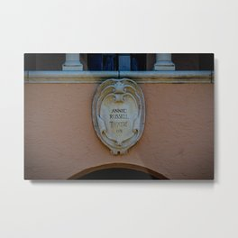 Annie Russell Theatre Nameplate Rollins College Winter Park Central Florida Orlando Metal Print
