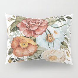 Roses and Poppies Pillow Sham