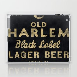 Old Harlem Lager Beer vintage advertisment poster Laptop & iPad Skin
