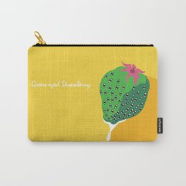 Greeneyed Strawberry Carry-All Pouch