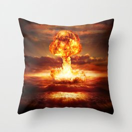 Atomic Bomb Throw Pillow