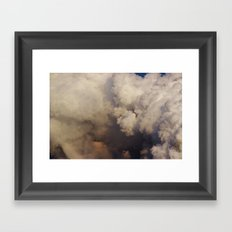 Faces in the Clouds Framed Art Print