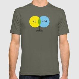 The Venn of Improv (Yellow/Blue) T-shirt