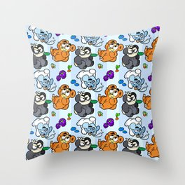 Bear Trio Throw Pillow