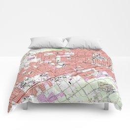 Vintage Map of Riverside California (1967) Comforters