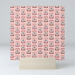 Mid Century Modern Starburst Shells Pink Mini Art Print