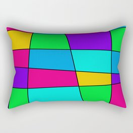 Colorful Window One Rectangular Pillow