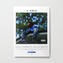 J Cole - 2014 Forest Hills Drive Album Cover Metal Print