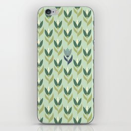 Field of Tulips green background iPhone Skin