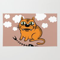fat Area & Throw Rugs featuring FAT CAT by Alberto Corradi