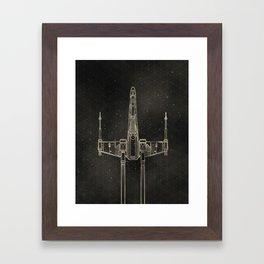 X-Wing Fighter Framed Art Print
