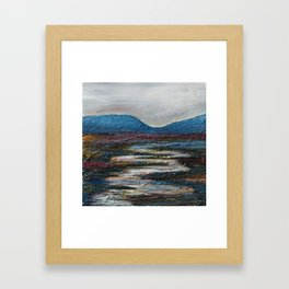The bog river through Connemara, Ireland by Machale O'Neill Framed Art Print