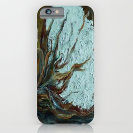 Cotton Boll on Wood iPhone Case