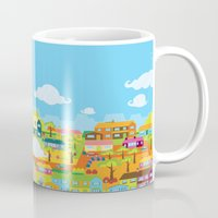 the neighbourhood Mugs featuring Neighbourhood by James Thornton