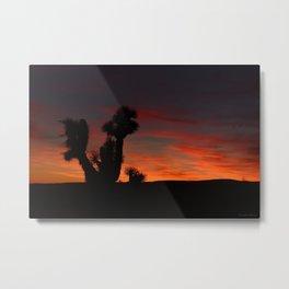 Desert Sunset Silhouettes - II Metal Print