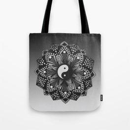 Yin and Yang Mandala (Black & White) Tote Bag