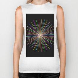 Strands Of Light 2 - Abstract, Spectral Pattern Biker Tank