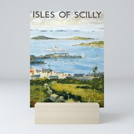 The Isles of Scilly Placard Mini Art Print