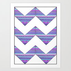 Patterned chevrons Art Print