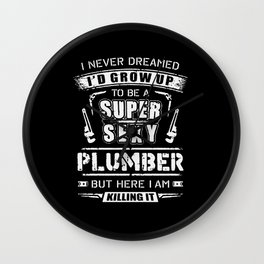 Super Sexy Plumber Wall Clock