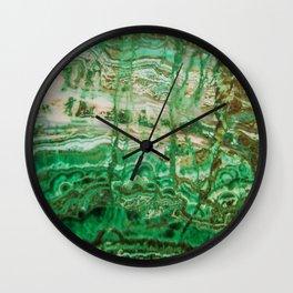 MINERAL BEAUTY - MALACHITE Wall Clock