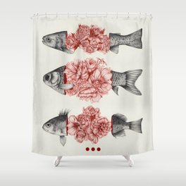 To Bloom Not Bleed  Shower Curtain