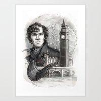 sherlock Art Prints featuring Sherlock  by RileyStark