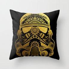 Mandala StormTrooper - Gold Foil Throw Pillow