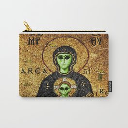 Byzantine Virgin Alien and Child Carry-All Pouch