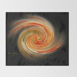 The whirl of life, W1.6B2 Throw Blanket