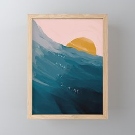 """One Wave At A Time"" Framed Mini Art Print"