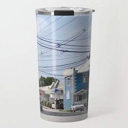 Caribbean street view Travel Mug