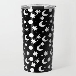 Cosmis space in black Travel Mug