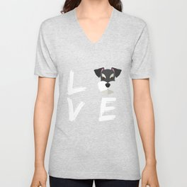 Schnauzer Gift I Love My Schnauzer Love My Dog Lover Unisex V-Neck