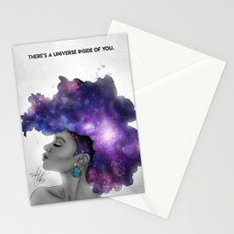 Galaxy Afro Stationery Cards